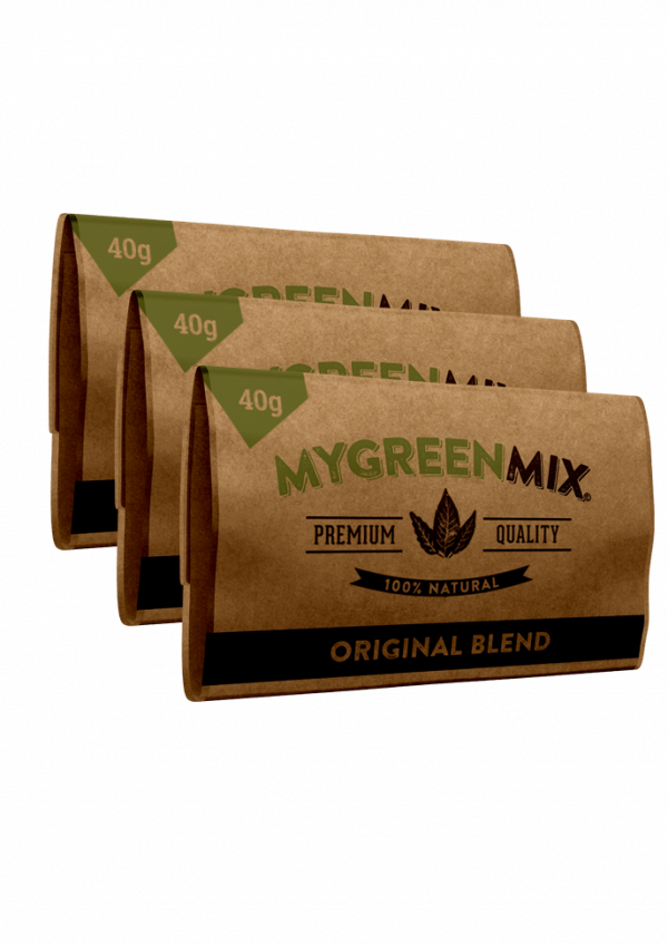 3 pack of green mix organic rolling tobacco without nicotine