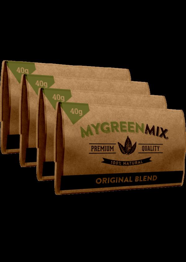 4 paquets de green mix mélange à rouler-bio coffeeshop amsterdam